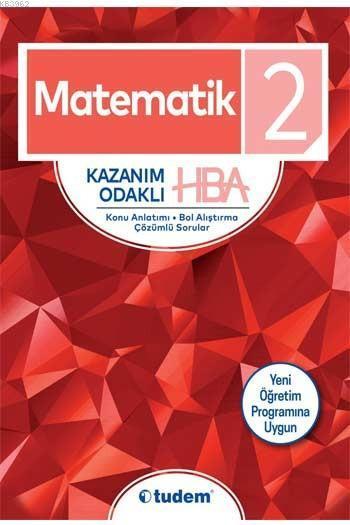 Tudem Yayınları 2. Sınıf Matematik Kazanım Odaklı HBA Tudem