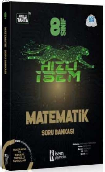 İsem 2021 8.Sınıf Hızlı İsem Matematik Soru Bankası