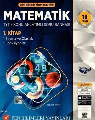 2021 10. Sınıf Dört Dörtlük Kitaplar Serisi Matematik TYT Konu Anlatımlı Soru Bankası ( 3 Kitap Set )