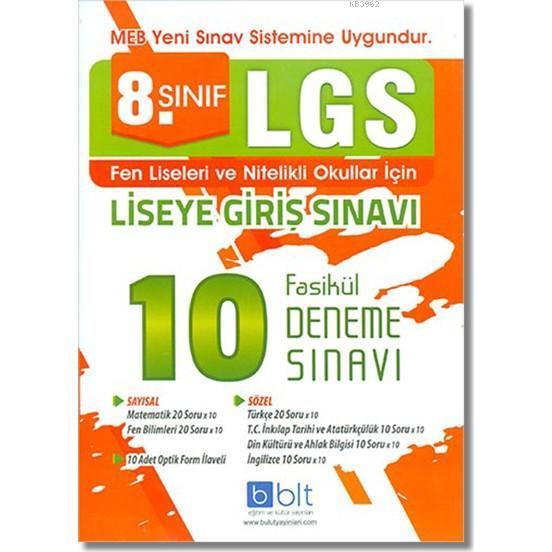 8. Sınıf LGS 10 Fasikül Deneme Sınavı