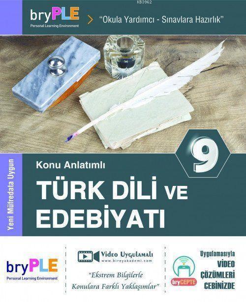 2019 9. Sınıf Türk Dili ve Edebiyatı Konu Anlatımlı; Birey PLE