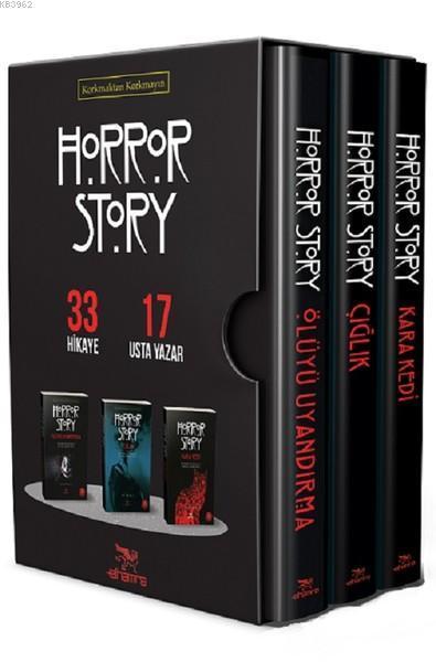 Horror Story - Özel Kutu Set (3 Kitap); Ölüyü Uyandırma - Çığlık - Kara Kedi