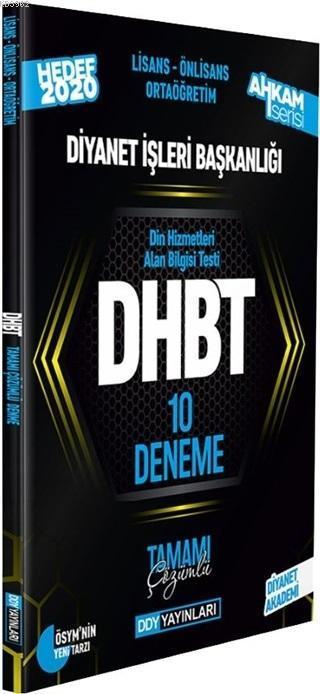 2020 DHBT Ahkam Serisi Tüm Adaylar Tamamı Çözümlü 10 Deneme