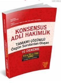 Konsensus - Adli Hakimlik Tamamı Çözümlü 10 Deneme Savaş Yayınları Eylül 2020