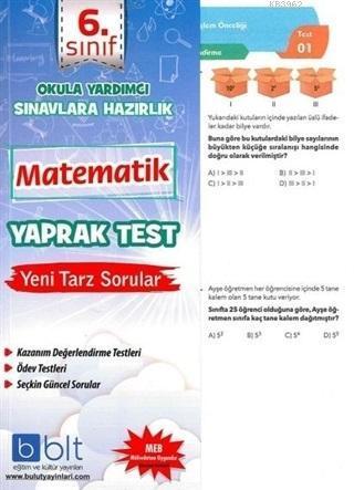 6. Sınıf Matematik Yaprak Test