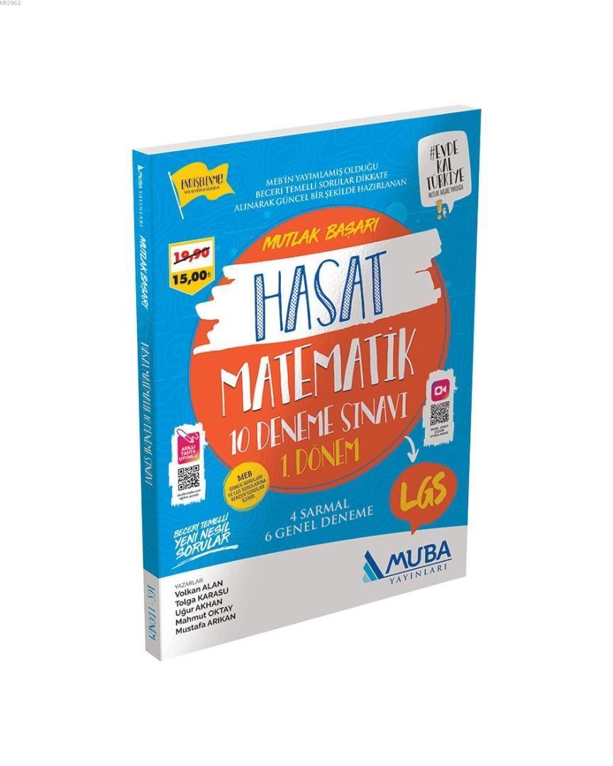Muba Yayınları 8. Sınıf 1. Dönem LGS Matematik Hasat 10 Deneme Sınavı Muba
