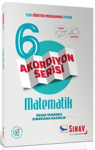 Sınav Dergisi Yayınları 6. Sınıf  Matematik Akordiyon Serisi Aç Konu Katla Soru Sınav Dergisi