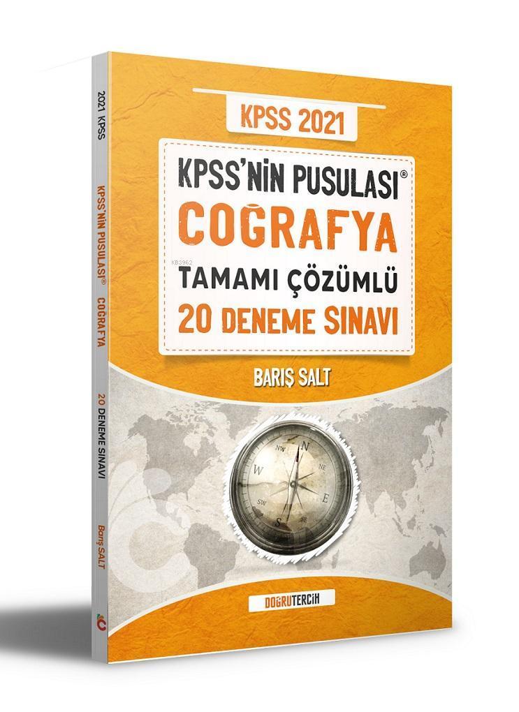 2021 KPSS'NİN Pusulası Coğrafya Tamamı Çözümlü 20 Deneme Sınavı Doğru Tercih Yayınları