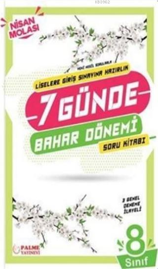 Palme Yayınları 8. Sınıf LGS 7 Günde Bahar Dönemi Soru Kitabı Palme