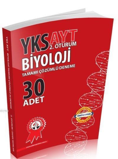 Zafer Yayınları AYT Biyoloji Tamamı Çözümlü 30 Adet Deneme Zafer