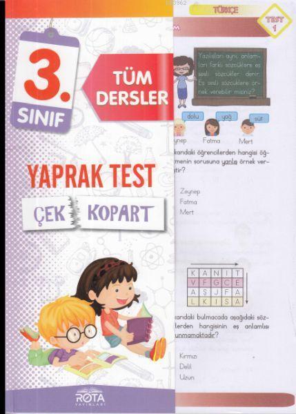 Rota 3.Sınıf Tüm Dersler Çek Kopart Yaprak Test Yeni