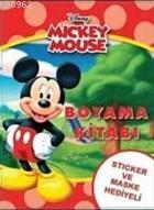 Mickey Roadster Çıkartmalı Boyama Kitabı