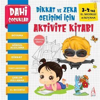 El Berecerisi Ve Boyama - Dahi Çocuklar Dikkat ve Zeka Gelişimi İçin Aktivite Kitabı (3-4 Yaş)