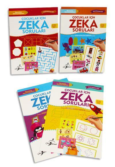 Çocuklar İçin Zeka Soruları - 4 Kitap Takım