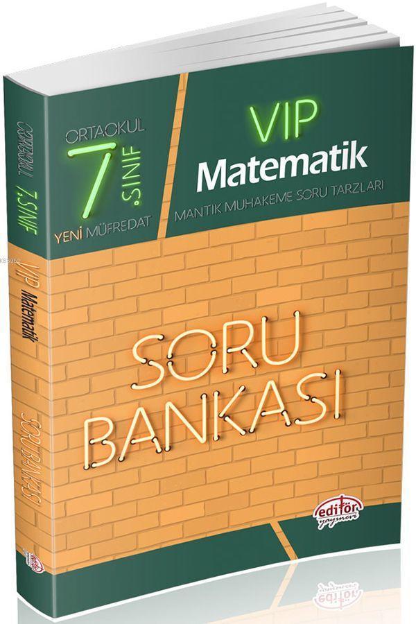 Editör Yayınları 7. Sınıf VIP Matematik Soru Bankası Editör