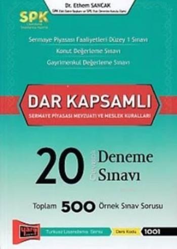 SPK Dar Kapsamlı Sermaye Piyasası Mevzuatı ve Meslek Kuralları Cevaplı 20 Deneme Sınavı