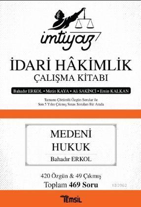 İmtiyaz - İdari Hakimlik Çalışma Kitabı - Medeni Hukuk