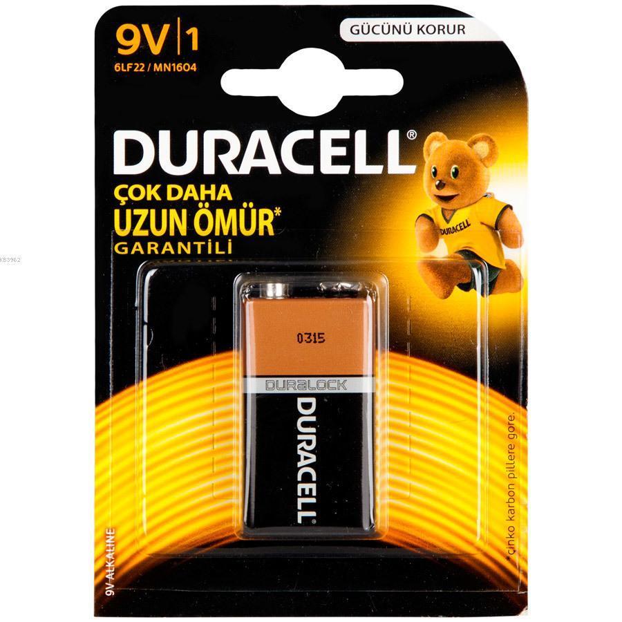 Duracell Pil 9 Volt Tekli