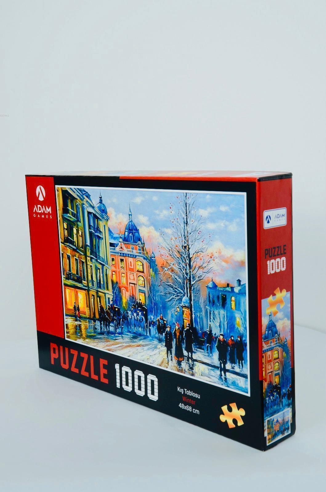 Adam Games Kış Tablosu 1000 Parça Puzzle 48x68