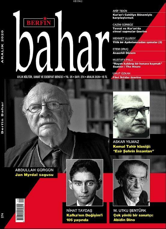 Berfin Bahar Dergisi Sayı: 270; Aylık Kültür Sanat ve Edebiyat Dergisi