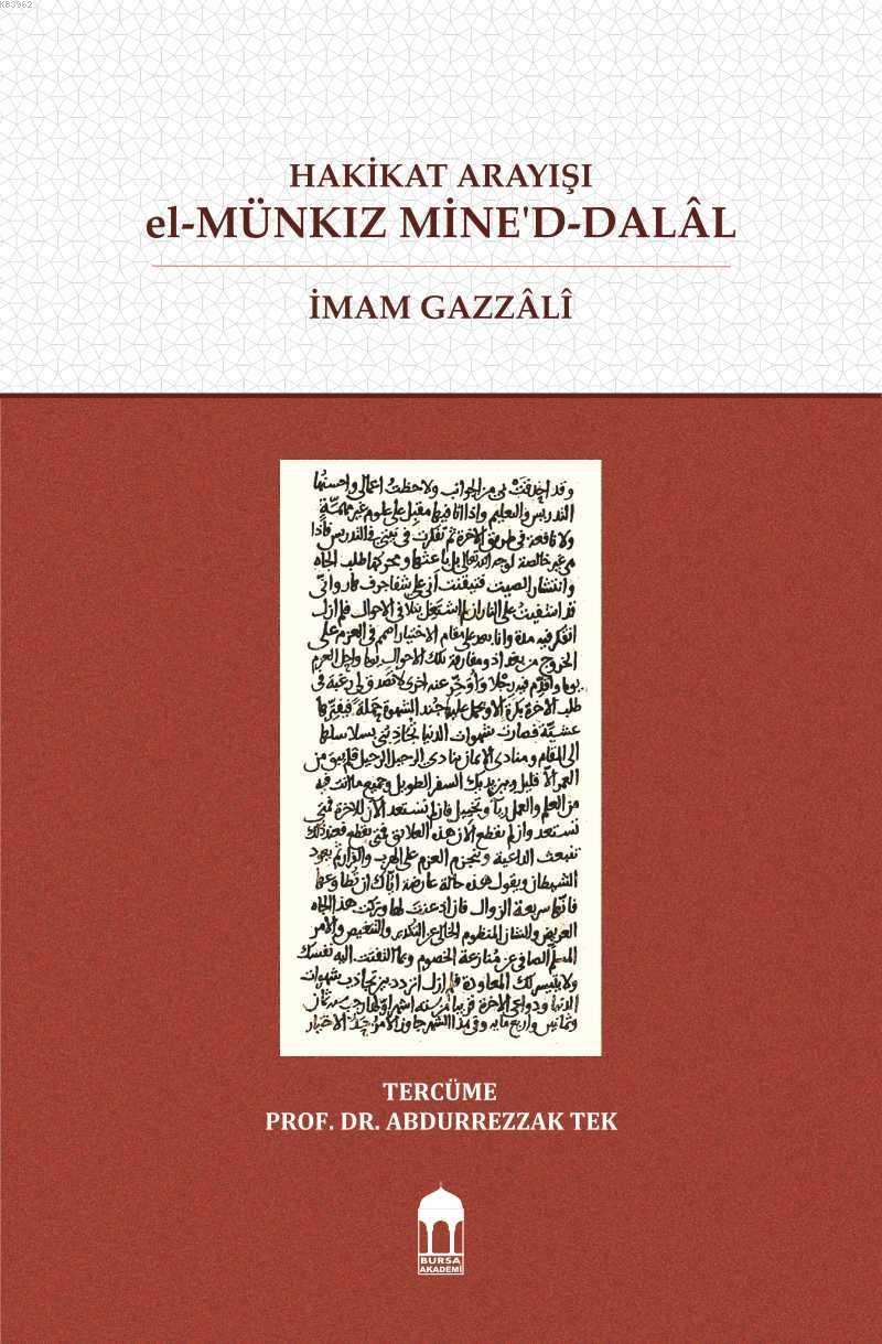 Hakikat Arayışı el-Münkız Mine'd-Dalâl (Türkçe=Arapça) Karşılıklı  (Sıvama)