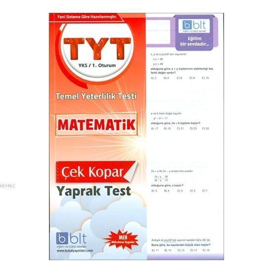 TYT - YKS 1. Oturum Matematik Çek Kopar Yaprak Test