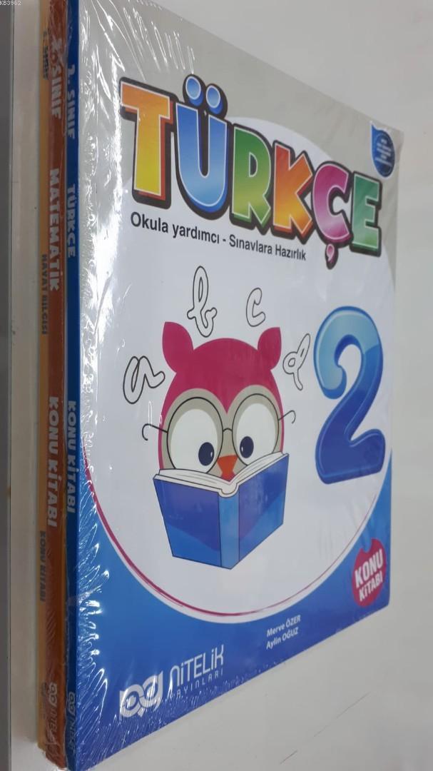 Nitelik Yayınları 2. Sınıf Türkçe Matematik Hayat Bilgisi Konu Kitabı Seti Nitelik