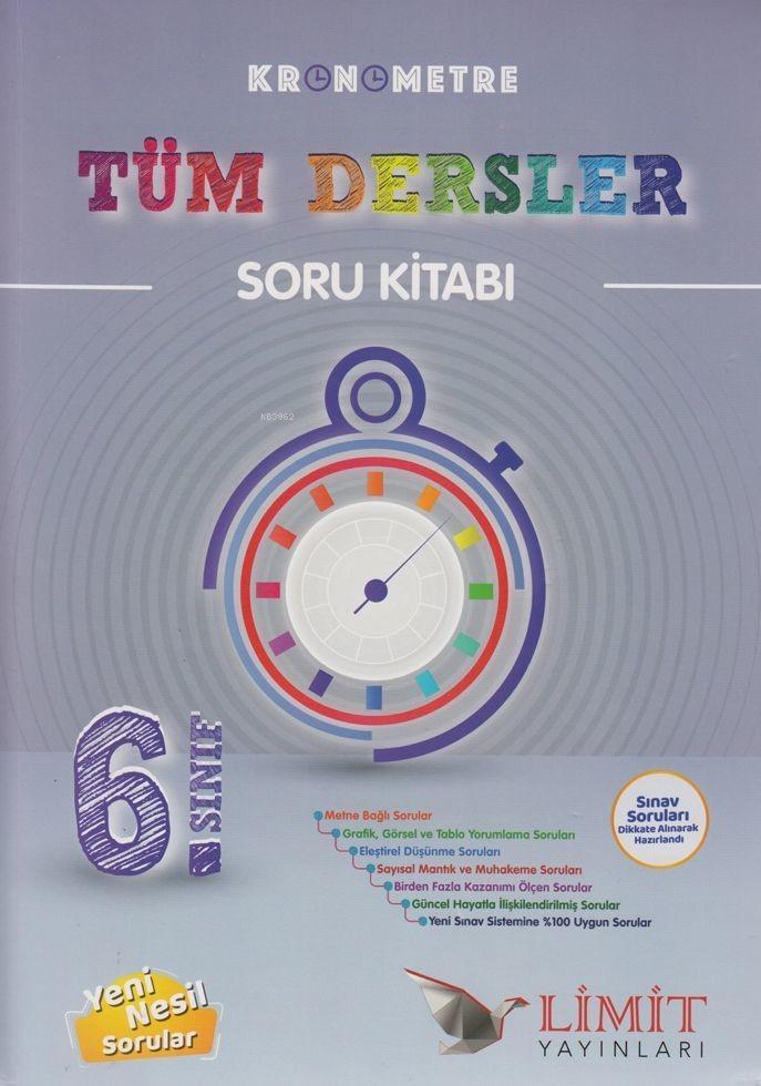 Limit Yayınları 6. Sınıf Tüm Dersler Kronometre Soru Kitabı Limit