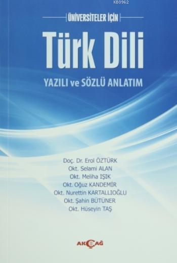 Türk Dili Yazılı ve Sözlü Anlatım
