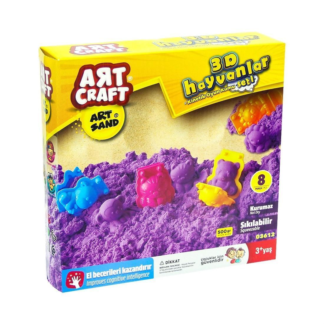 Art Craft 03612 Hayvanlar Kum Seti 500 Gr.