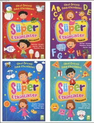 Okul Öncesi Zeka Etkinleri Süper Etkinler 4 Kitap Set