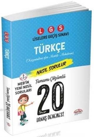 LGS Türkçe Tamamı Çözümlü 20 Branş Denemesi