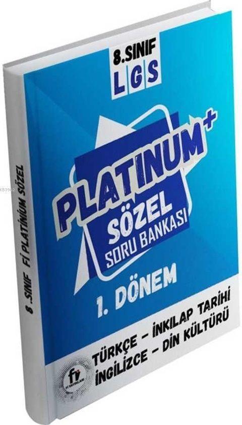 Fi Yayınları 8. Sınıf 1. Dönem LGS Platinum Sözel Soru Bankası Fi