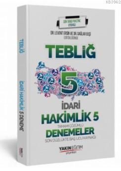 İadri Hakimlik Tebliğ 5 Deneme Yakın Eğitim Yayınları 2019; Tamamı Çözümlü Son Düzlükte Baş Ucu Kaynağı