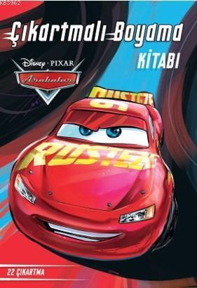 Disney Arabalar Çıkartmalı Boyama
