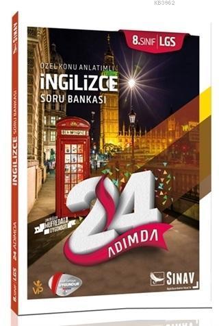 2019 8. Sınıf 24 Adımda LGS İngilizce Özel Konu Anlatımlı Soru Bankası