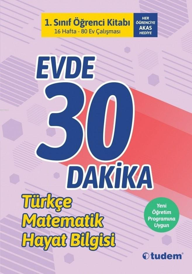 Tudem Yayınları 1. Sınıf Evde 30 Dakika Öğrenci Kitabı Tudem