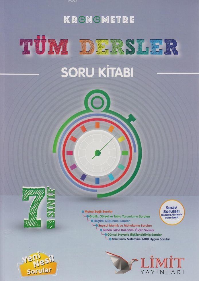 Limit Yayınları 7. Sınıf Tüm Dersler Kronometre Soru Kitabı Limit