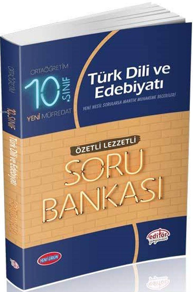 10. Sınıf Türk Dili ve Edebiyatı Özetli Lezzetli Soru Bankası