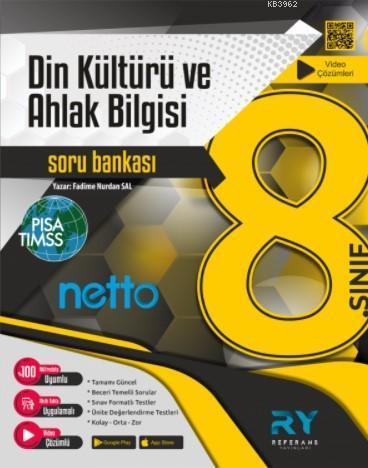 Referans Netto LGS 8.Sınıf Din Kültürü ve Ahlak Bilgisi Soru Bankası Video Çözümlü 2021