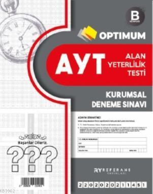 Optimum AYT Kurumsal Genel Deneme Kırmızı 2021; B Kitapçığı