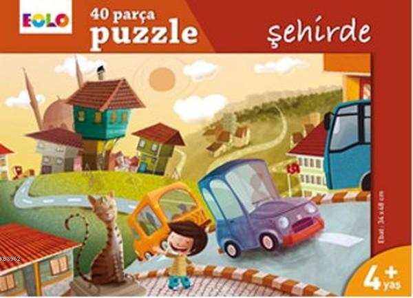 Şehirde 40 Parça Puzzle 4+ Yaş
