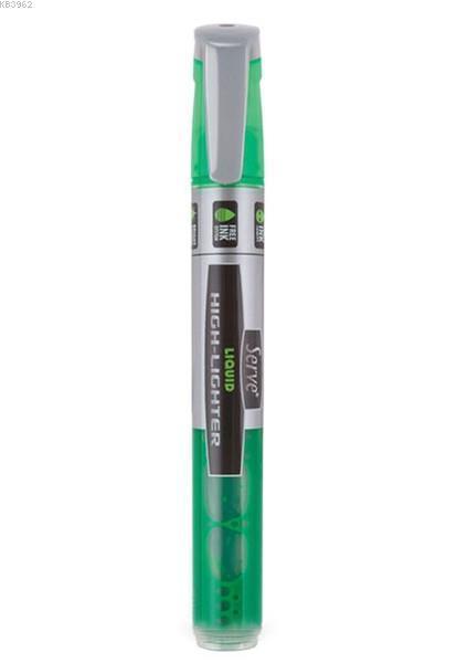 Serve Likit Fosforlu Kalem Yeşil