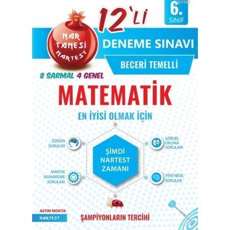 Nartest Yayınları 6. Sınıf Matematik 12li Deneme Sınavı Nartest