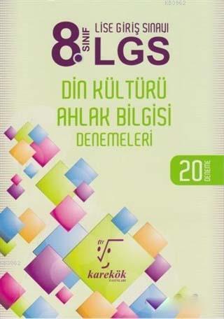 8. Sınıf LGS Din Kültürü ve Ahlak Bilgisi Denemeleri; 20 Deneme