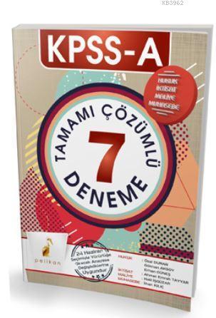 KPSS A Grubu Tamamı Çözümlü 7 Deneme 2018