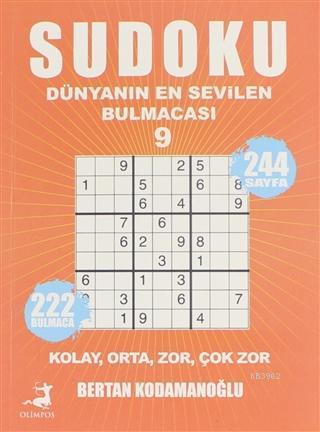 Sudoku - Dünyanın En Sevilen Bulmacası 9 Kolay Orta Zor Çok Zor