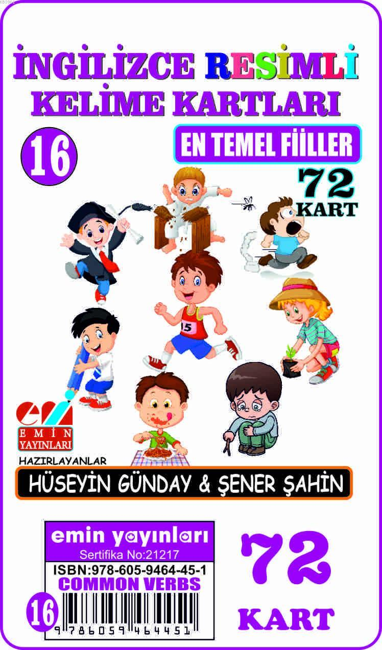 İngilizce 16.En Temel Fiiller / Resimli Kelime Kartları 72-Kart