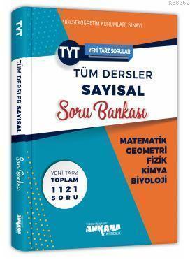 Ankara Yayınları TYT Tüm Dersler Sayısal Soru Bankası Ankara
