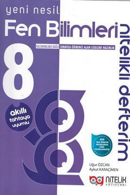 Nitelik Yayınları 8. Sınıf LGS Fen Bilimleri Nitelikli Defterim Nitelik